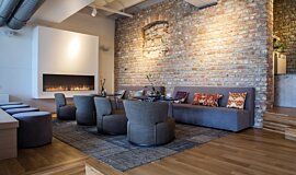Lobby Indoor Fireplaces Flex Fireplace Idea