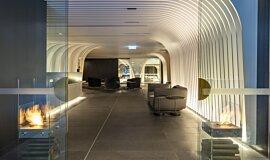 SKYE Suites Sydney Indoor Fireplaces Designer Fireplace Idea