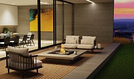 Square 22 Fire Pit Kit - In-Situ Image by EcoSmart Fire