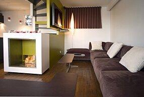 Chalet LaPlagne - Fusion Designer Fireplace by EcoSmart Fire