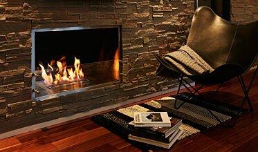 Firebox 1000SS Single Sided Fireplace - In-Situ Image by EcoSmart Fire
