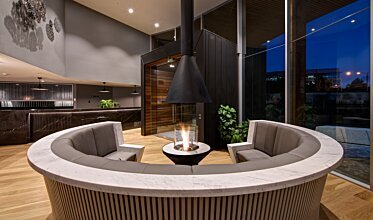 AB3 Centrepiece Fireplace - In-Situ Image by EcoSmart Fire