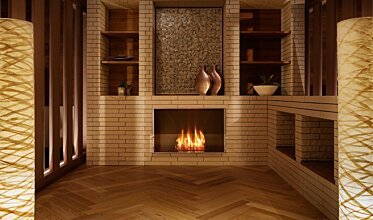Firebox 800SS Single Sided Fireplace - In-Situ Image by EcoSmart Fire