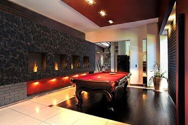 Billiard Room - Single Sided Fireplaces