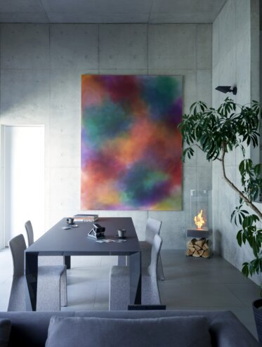 Private Residence Dining - Designer Fireplaces