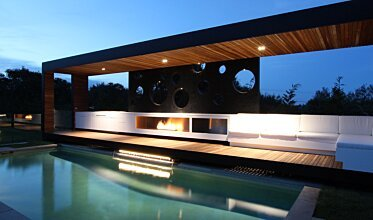 Portsea Private Pool Pavilion - Residential Fireplaces