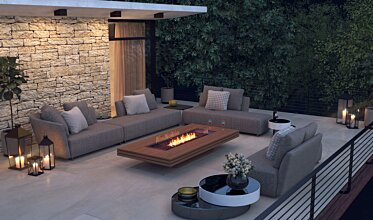 Outdoor entertaining space - Outdoor Fireplaces