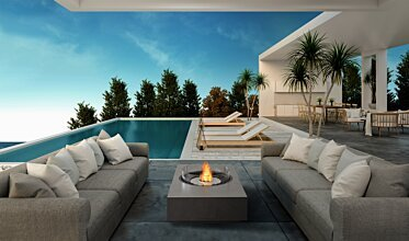 Poolside - Outdoor Fireplaces