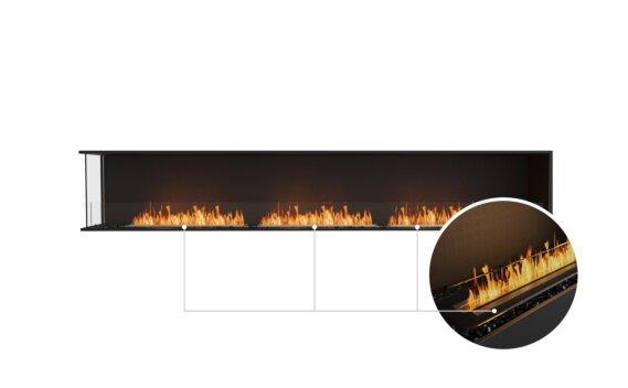 Flex 122LC Left Corner - Ethanol - Black / Black / Installed View by EcoSmart Fire