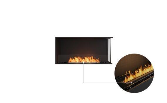 Flex 42RC Right Corner - Ethanol - Black / Black / Installed View by EcoSmart Fire