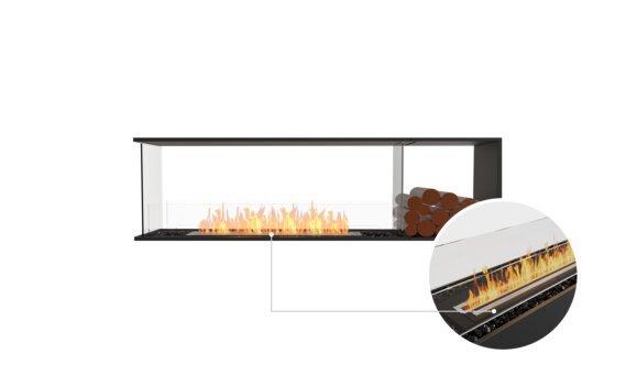 Flex 68PN.BXR Peninsula - Ethanol - Black / Black / Installed View by EcoSmart Fire