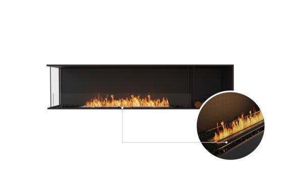 Flex 86LC.BXR Left Corner - Ethanol - Black / Black / Installed View by EcoSmart Fire