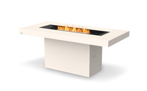 Gin 90 (Bar) Fire Table - Ethanol - Black / Bone by EcoSmart Fire