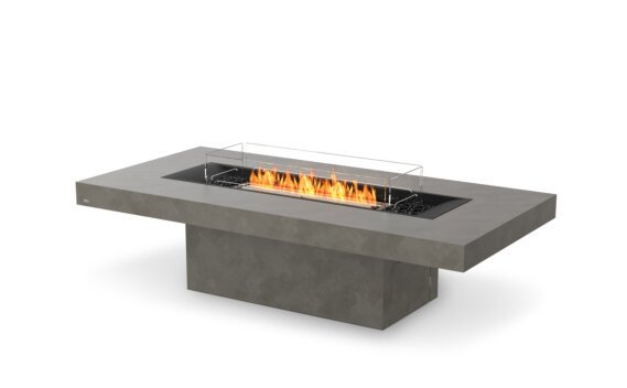 Gin 90 (Chat) Fire Table - Ethanol - Black / Natural / Optional Fire Screen by EcoSmart Fire