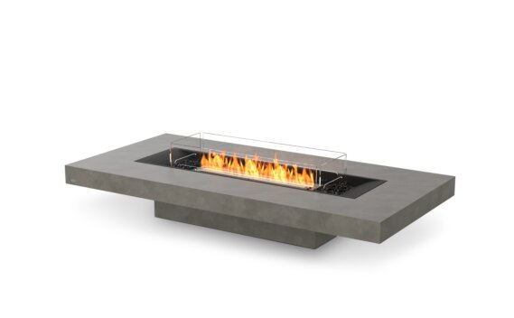 Gin 90 (Low) Fire Table - Ethanol - Black / Natural / Optional Fire Screen by EcoSmart Fire