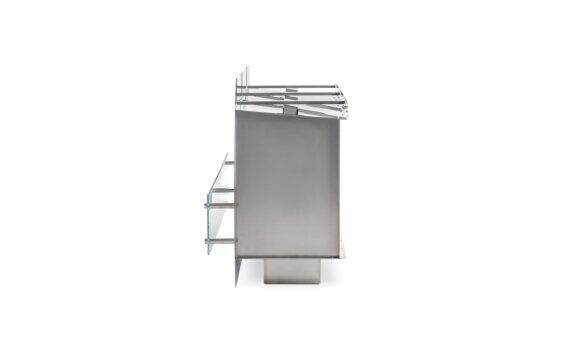 Firebox 1200SS Single Sided Fireplace - Ethanol / Stainless Steel / Side View by EcoSmart Fire