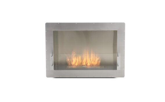 Firebox 800SS Single Sided Fireplace - Ethanol / Stainless Steel / Front View by EcoSmart Fire