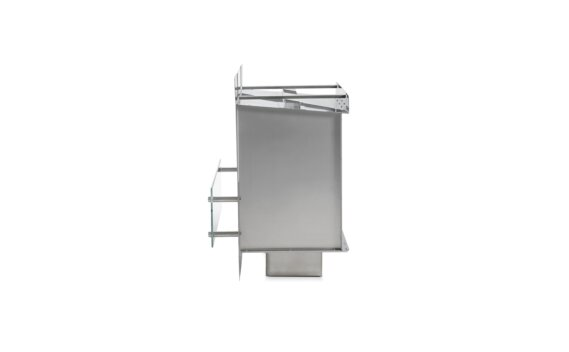 Firebox 800SS Single Sided Fireplace - Ethanol / Stainless Steel / Side View by EcoSmart Fire