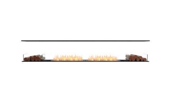 Flex 122IL.BX2 Island - Ethanol / Black / Installed View by EcoSmart Fire
