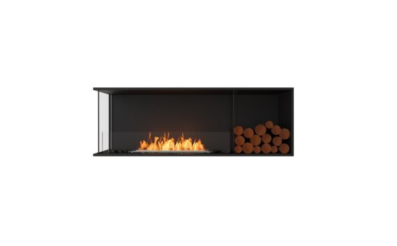 Flex 60LC.BXR Left Corner - Ethanol / Black / Installed View by EcoSmart Fire