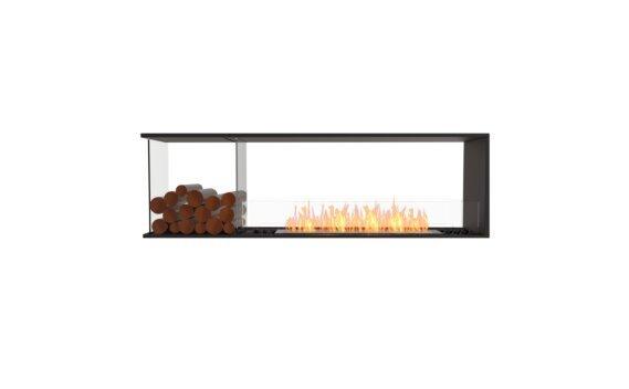 Flex 68PN.BXL Peninsula - Ethanol / Black / Installed View by EcoSmart Fire