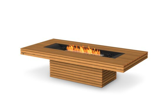 Gin 90 (Chat) Fire Table - Ethanol / Teak by EcoSmart Fire