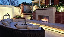 Private Residence Landscape Fireplaces Fireplace Insert Idea