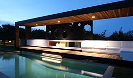 Portsea Private Pool Pavilion Residential Fireplaces Ethanol Burner Idea