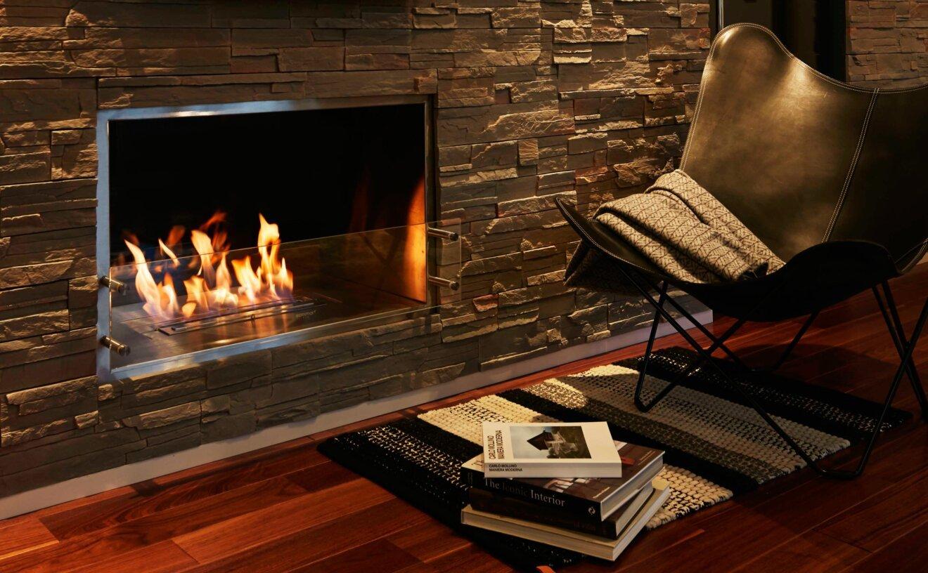 Firebox 1000SS Fireplace Insert - Studio Image by EcoSmart Fire