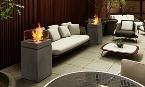 Tower Fire Pit - In-Situ Image by EcoSmart Fire