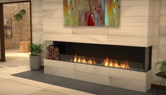 Lounge Area - Flex 104BY.BXL Fireplace Insert by EcoSmart Fire