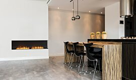 Kitchen Area Linear Fires Flex Fireplace Idea