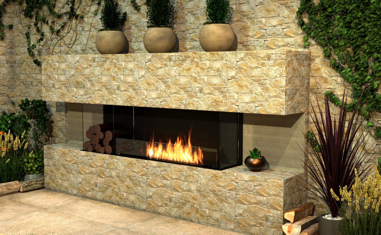 Flex 158BY.BX2 Fireplace Insert - Studio Image by EcoSmart Fire