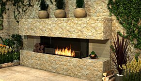 Flex 86BY.BXR Flex Fireplace - In-Situ Image by EcoSmart Fire