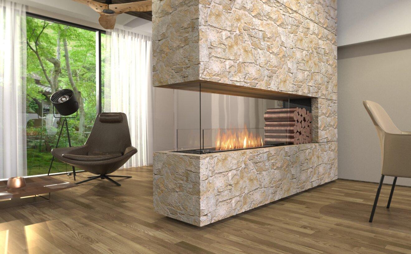 Flex 68PN.BXR Flex Fireplace - Studio Image by EcoSmart Fire