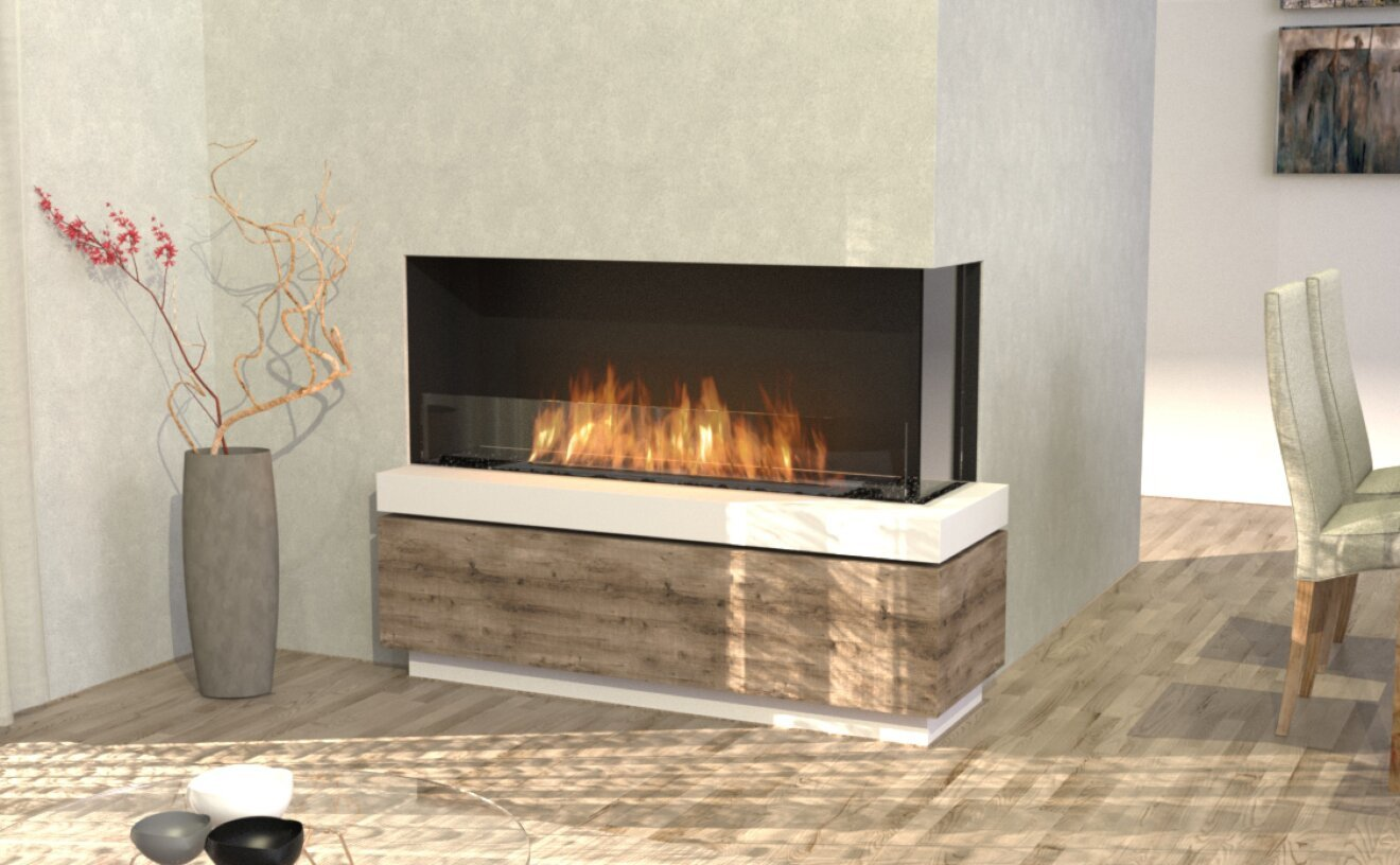 Flex 50RC Flex Fireplace - Studio Image by EcoSmart Fire