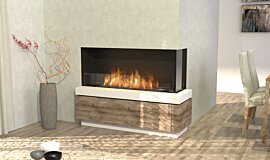 Dining Room Linear Fires Flex Fireplace Idea