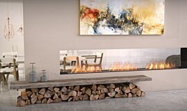 Lounge Area See-Through Fireplaces Double Sided Idea