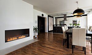 Flex 86SS Flex Fireplace - In-Situ Image by EcoSmart Fire