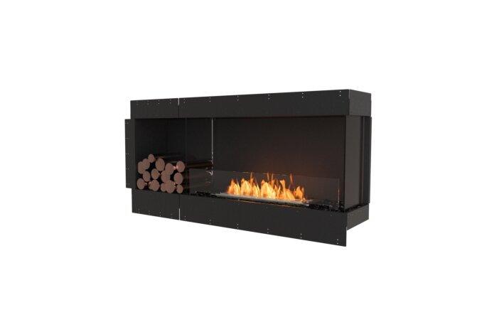 Flex 60RC.BXL Right Corner - Ethanol / Black / Uninstalled View by EcoSmart Fire