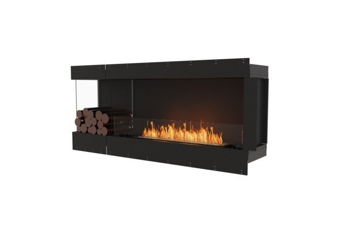 Flex 68LC.BXL Left Corner - Ethanol / Black / Uninstalled View by EcoSmart Fire