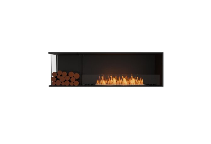 Flex 68LC.BXL Left Corner - Ethanol / Black / Installed View by EcoSmart Fire