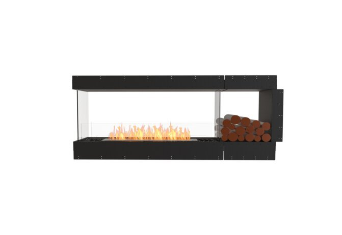 Flex 68PN.BXR Peninsula - Ethanol / Black / Uninstalled View by EcoSmart Fire