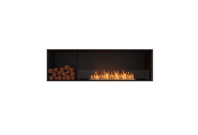 Flex 68SS.BXL Single Sided - Ethanol / Black / Installed View by EcoSmart Fire