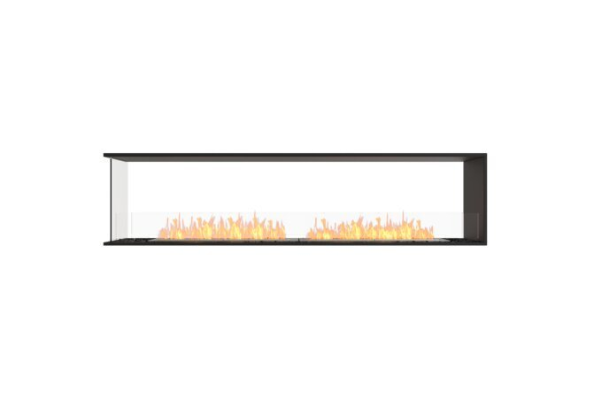 Flex 86PN Peninsula - Ethanol / Black / Installed View by EcoSmart Fire
