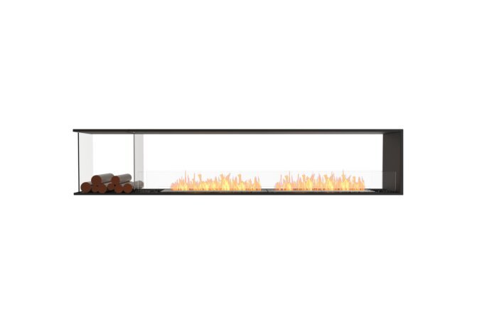 Flex 104PN.BXL Peninsula - Ethanol / Black / Installed View by EcoSmart Fire
