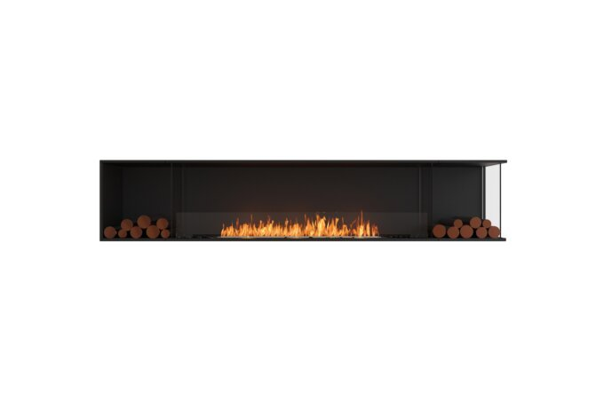 Flex 104RC.BX2 Right Corner - Ethanol / Black / Installed View by EcoSmart Fire