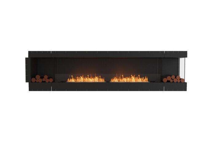 Flex 122RC.BX2 Right Corner - Ethanol / Black / Uninstalled View by EcoSmart Fire
