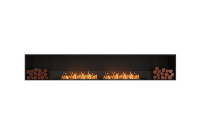 Flex 122SS.BX2 Flex Fireplace - Ethanol / Black / Installed View by EcoSmart Fire