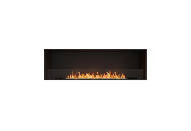 Flex 68SS Flex Fireplace - Ethanol / Black / Installed View by EcoSmart Fire